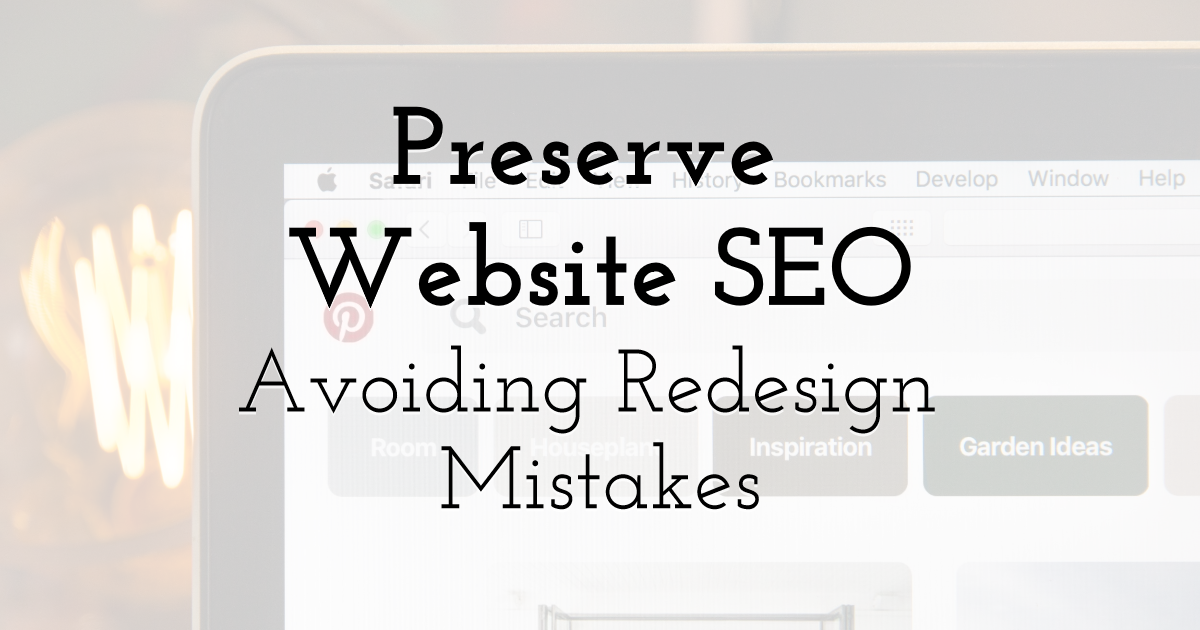 Preserve Your Website SEO By Design  Template
