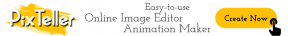 PixTeller Logo -> Start Designing [CA]