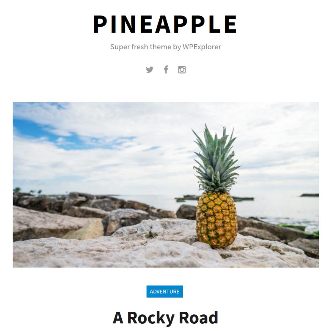 Pineapple Wordpress Theme