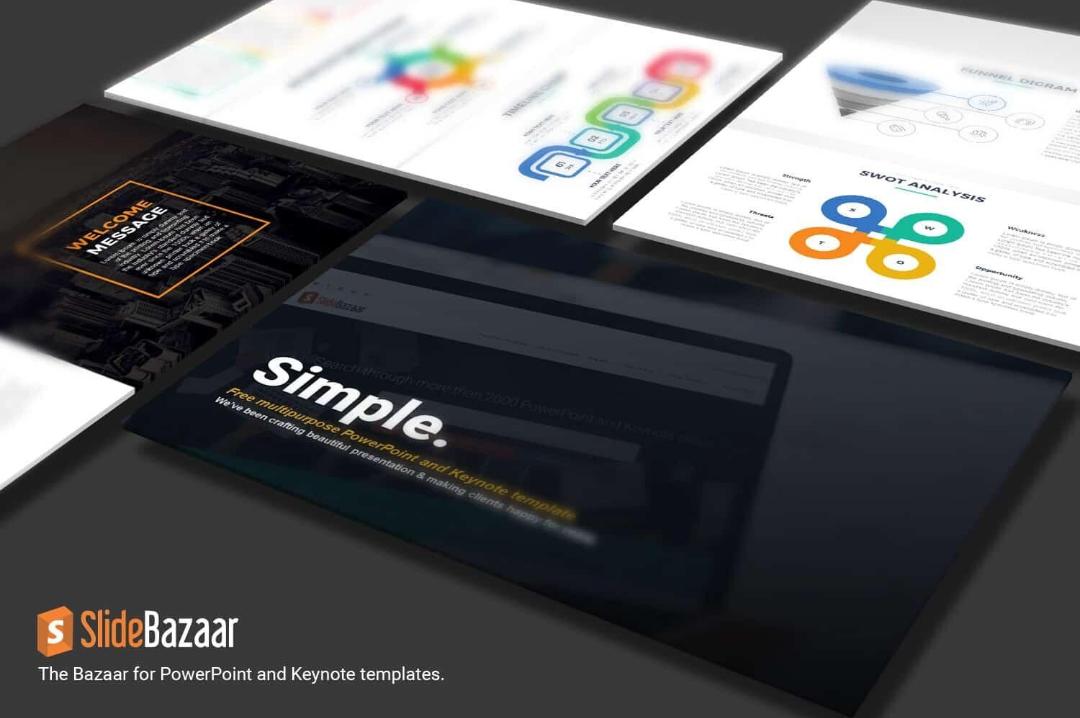 Simple Free multipurpose Google Slides Themes