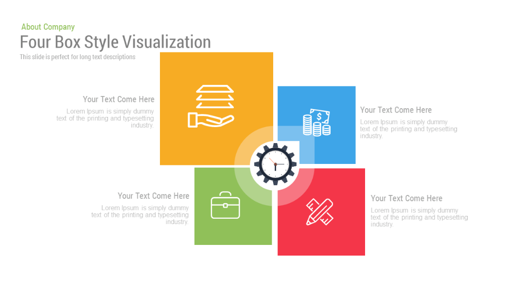 Four Box Style Visualization Free Google Slides Themes