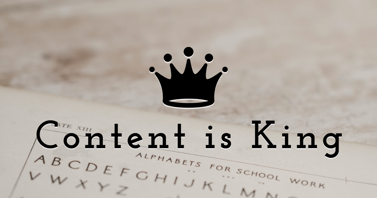 Content is King Design  Template