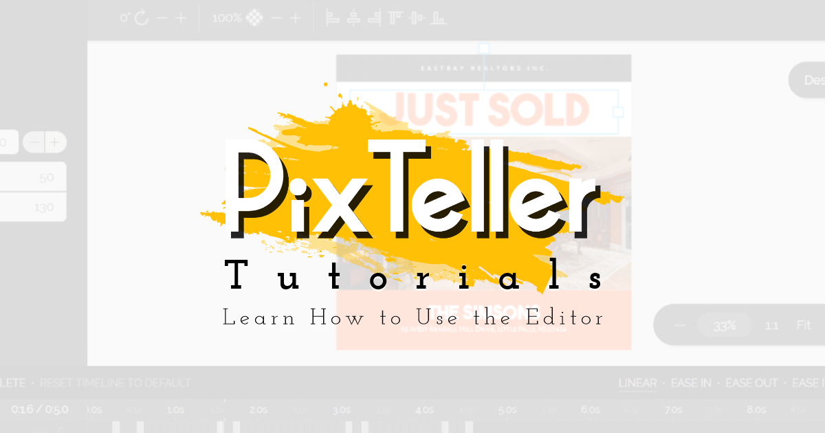 Learn how to use PixTeller editor