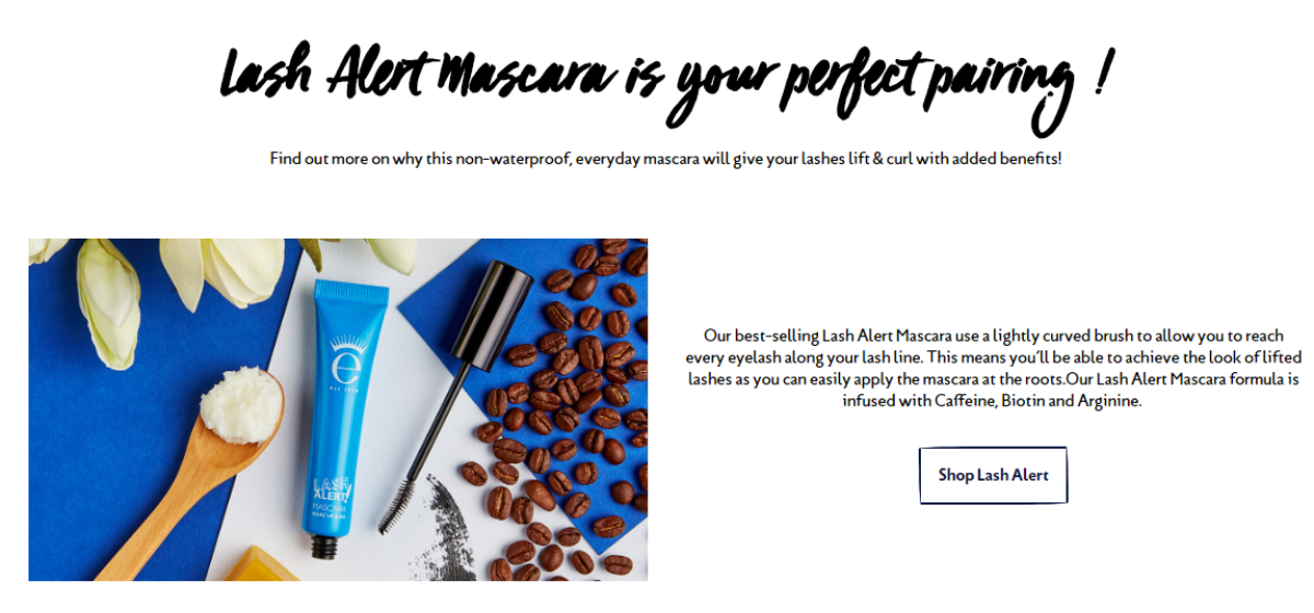 Quiz to create a personalized product