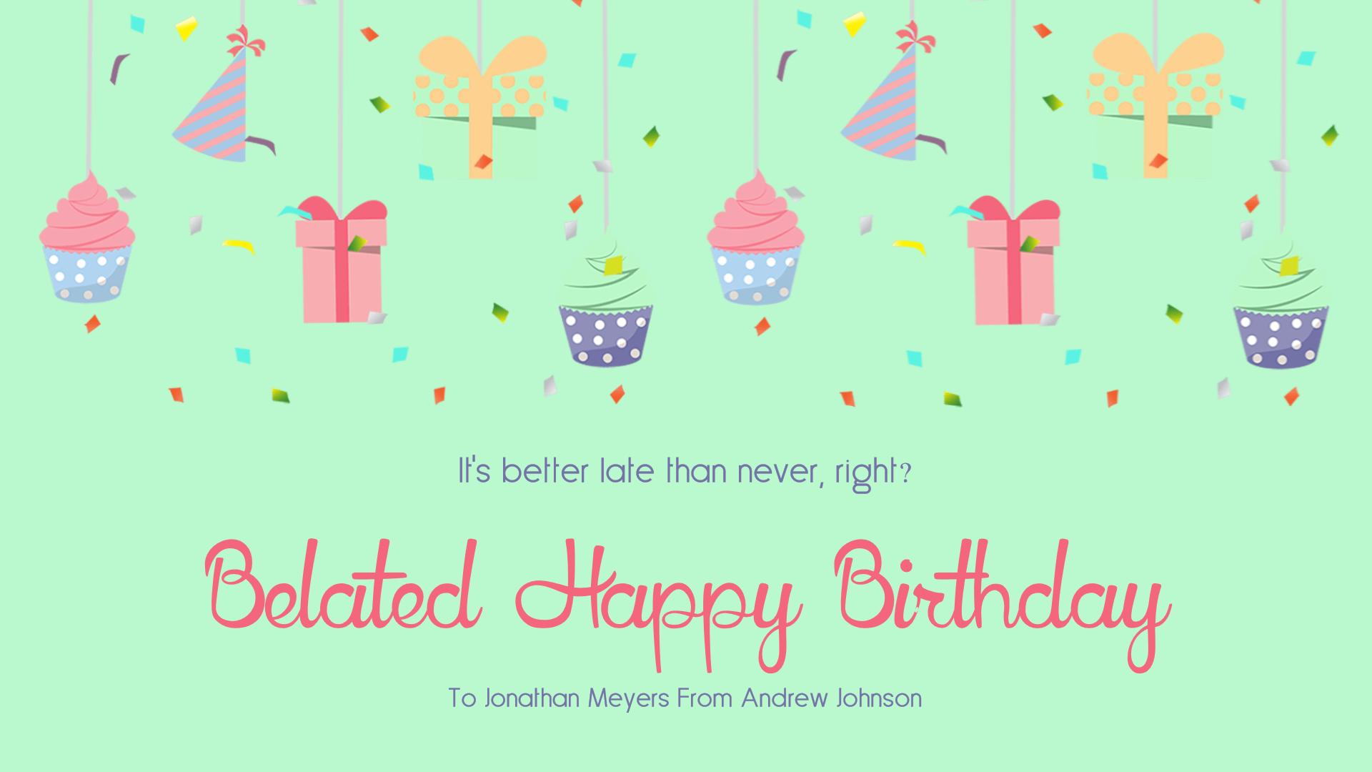 Confetti Happy Birthday Message - Animation  Template