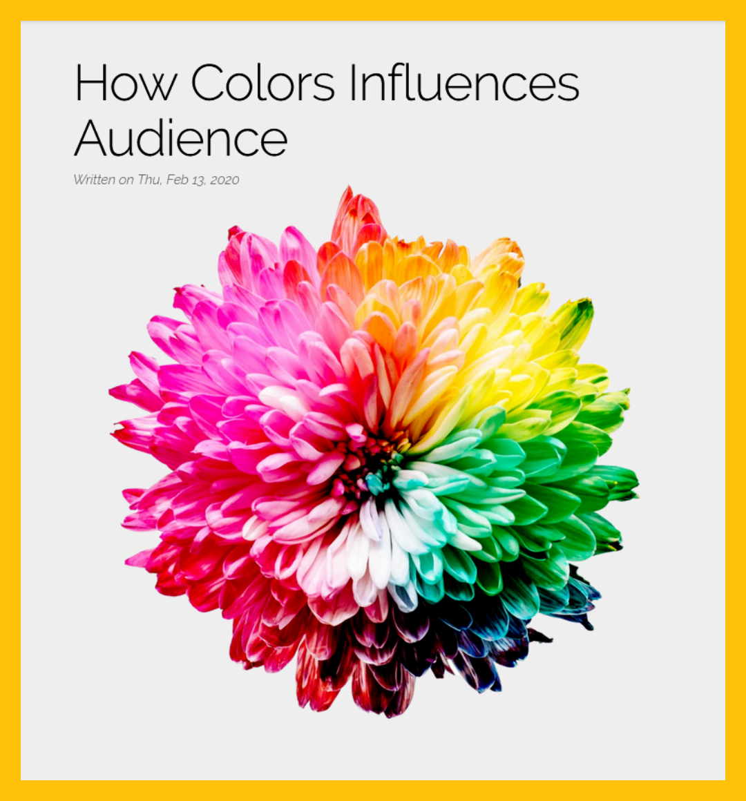How Colors Influences Audience