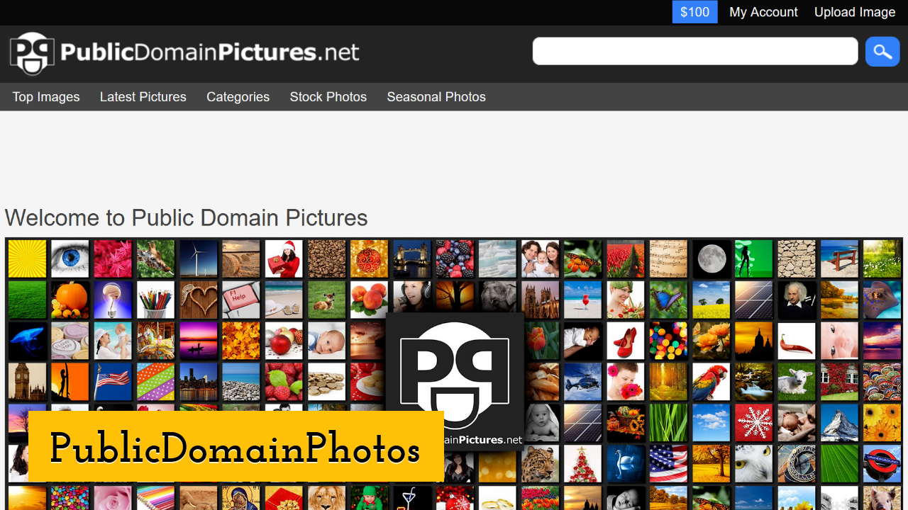 PublicDomainPhotos ScreenShot