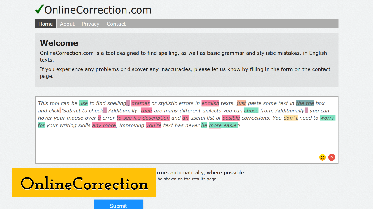 OnlineCorrection ScreenShot