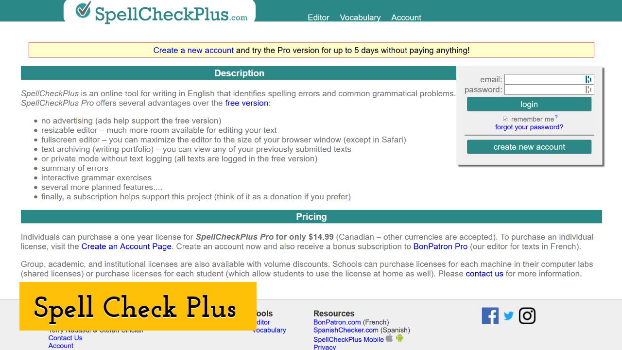 Spell Check Plus ScreenShot