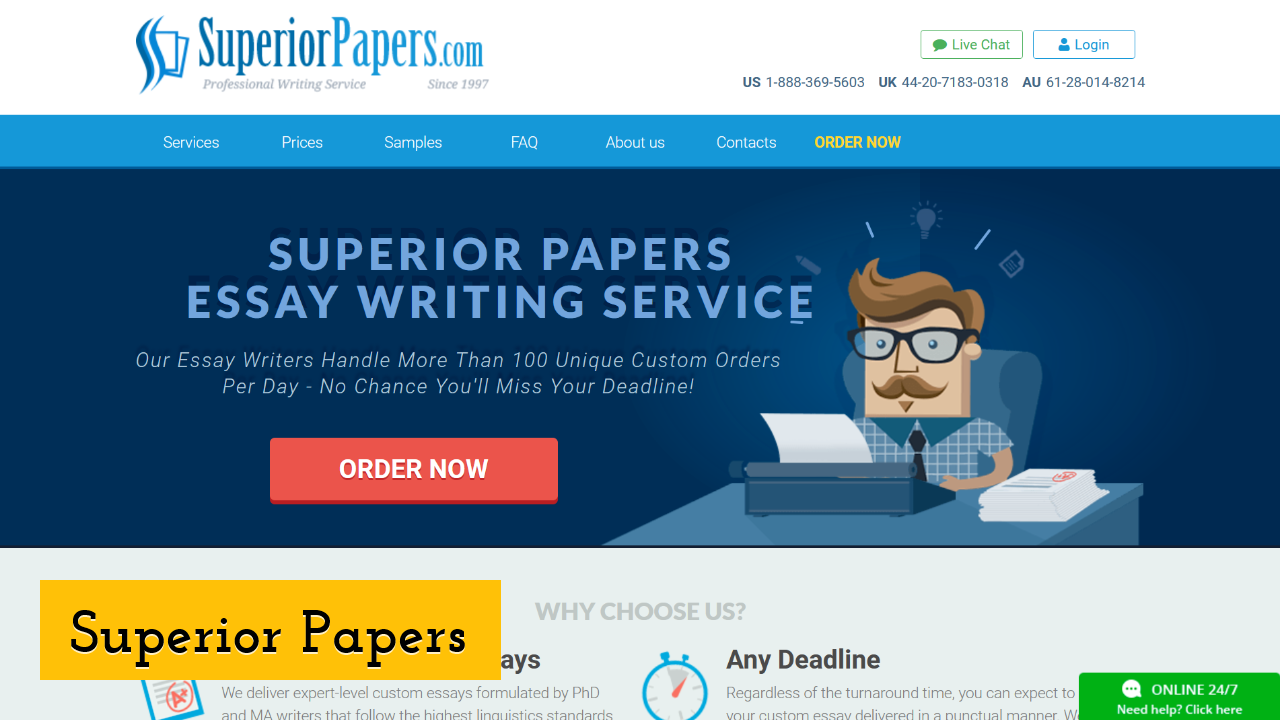 Superior Papers ScreenShot