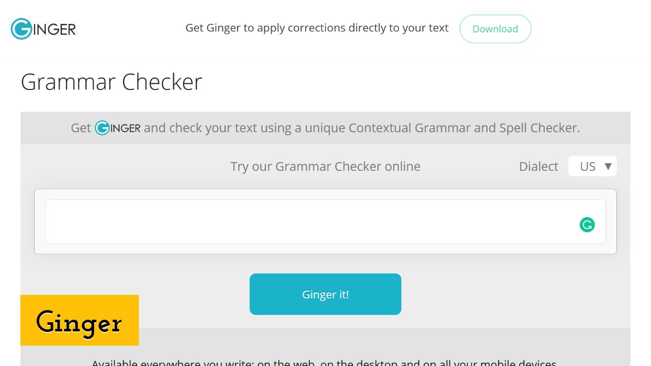 Ginger ScreenShot