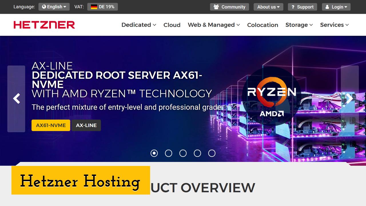 Hetzner Hosting screenshot