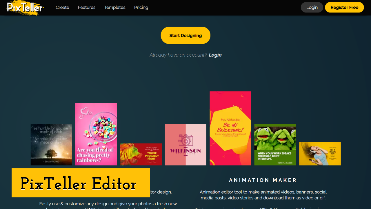 PixTeller Editor screenshot