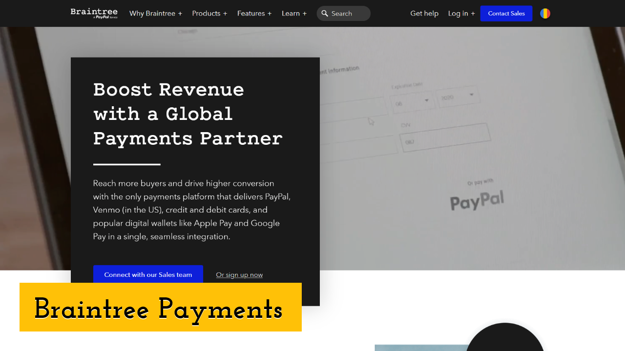 Braintree Payments screenshot
