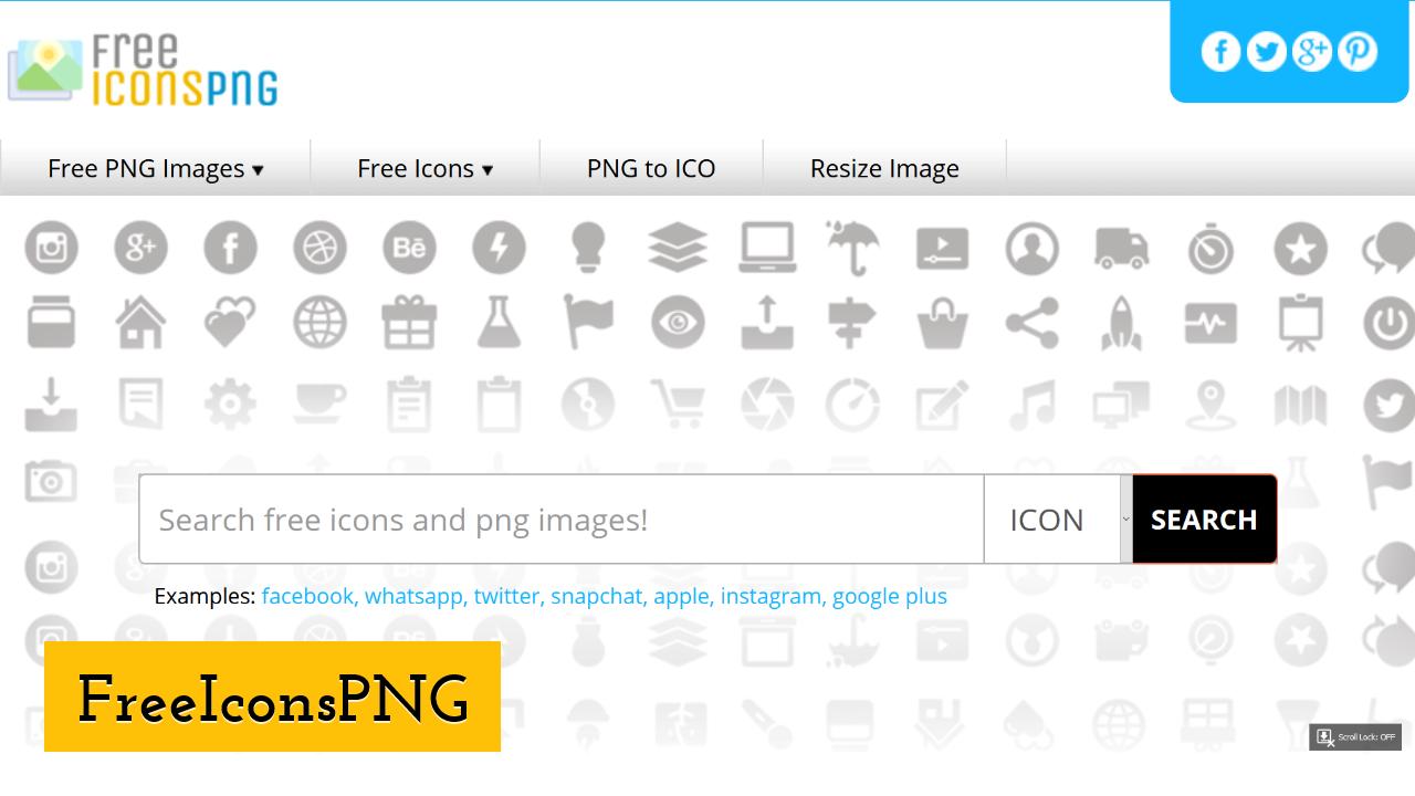 FreeIconsPNG screenshot