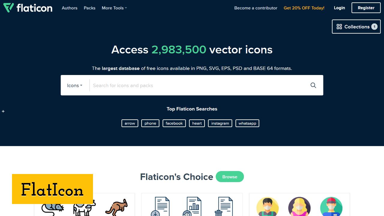 FlatIcon screenshot