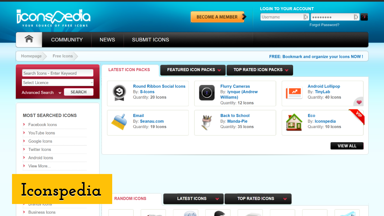Iconspedia screenshot