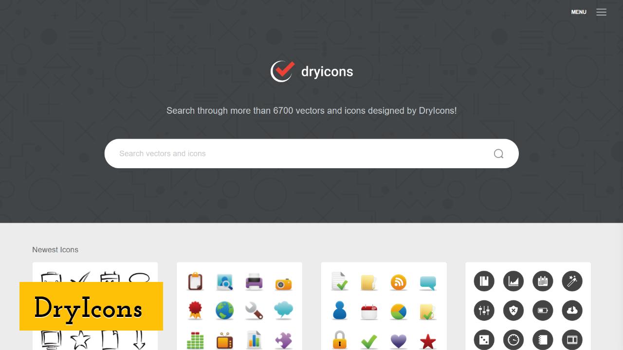 DryIcons screenshot