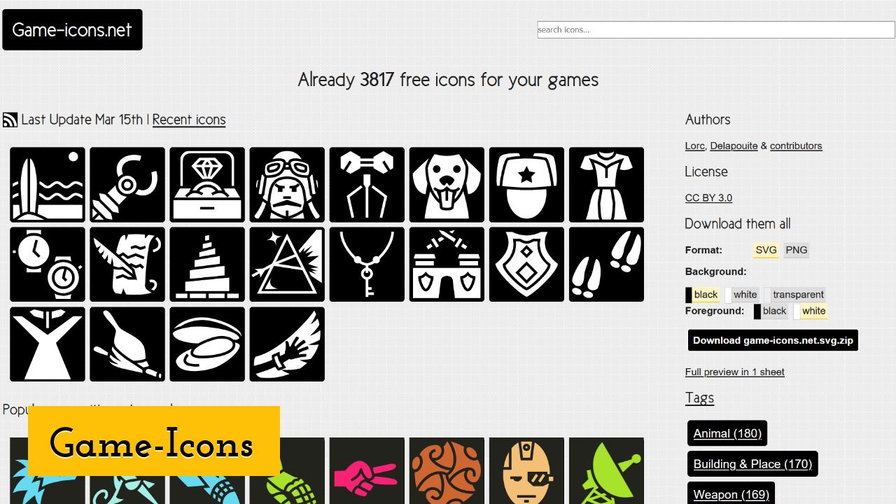 Game-Icons screenshot