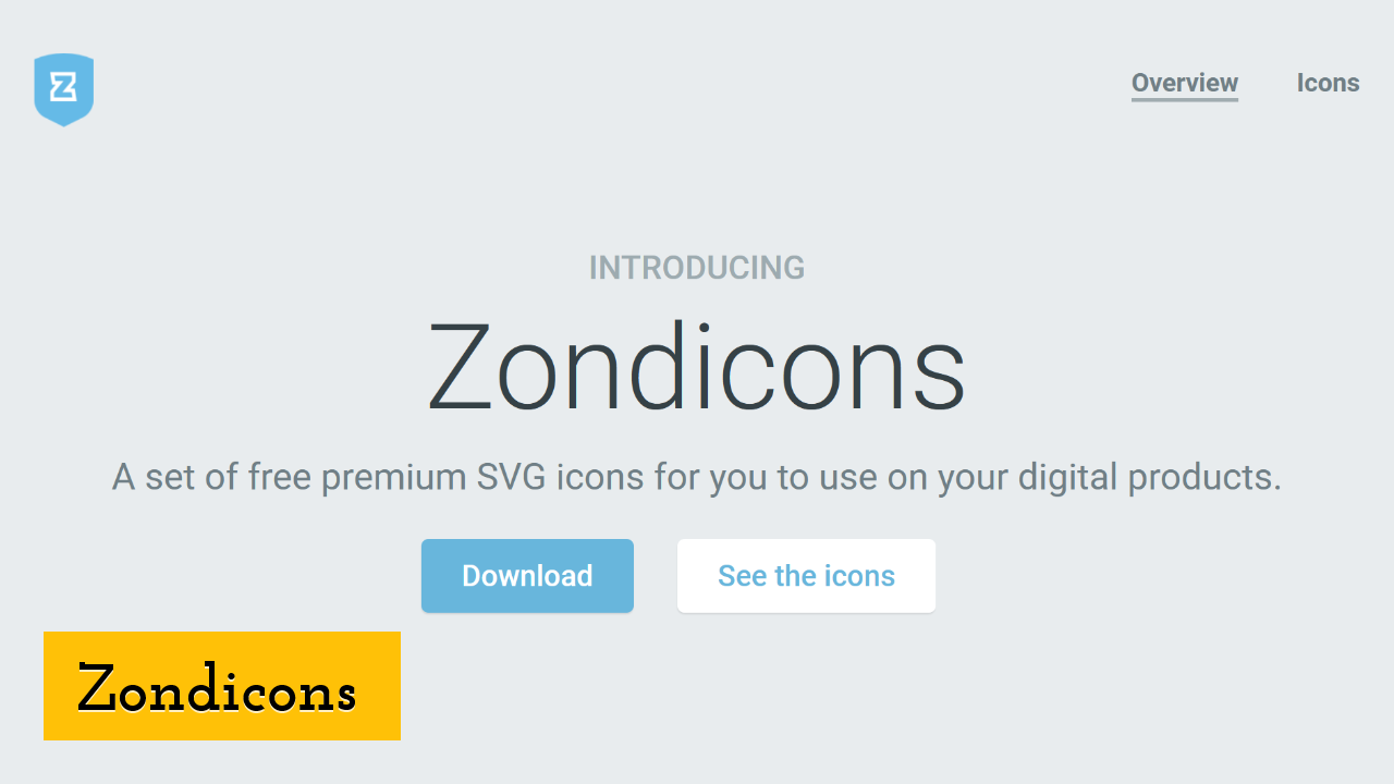 Zondicons screenshot