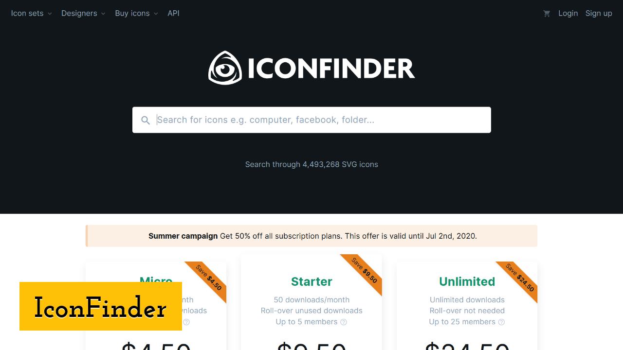 IconFinder screenshot