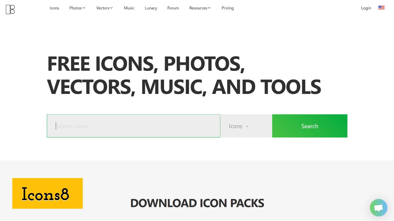 Icons8 screenshot