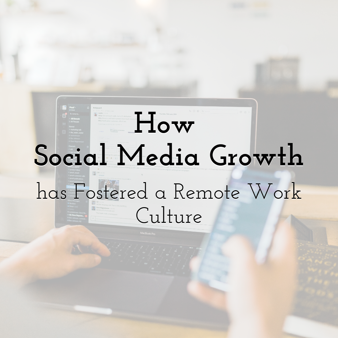 How Social Media Growth has Fostered a Remote Work Culture