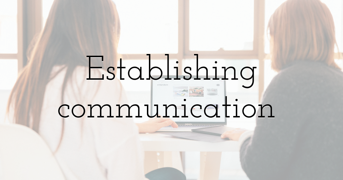 Establishing communication