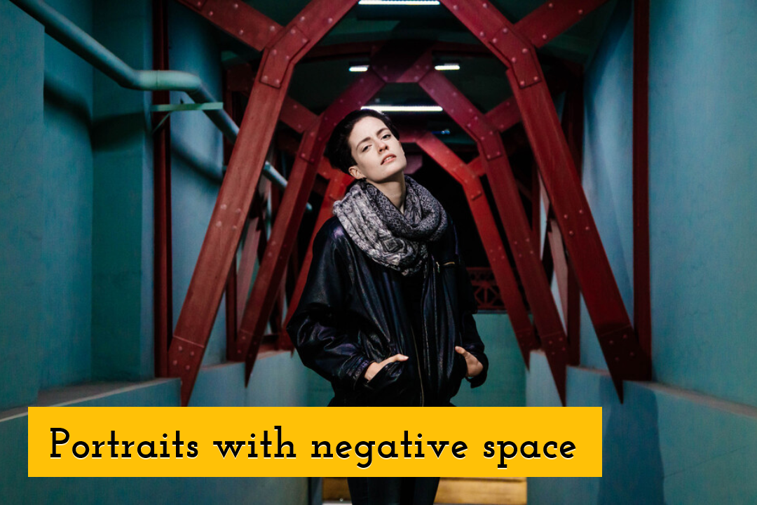 Portraits with negative space