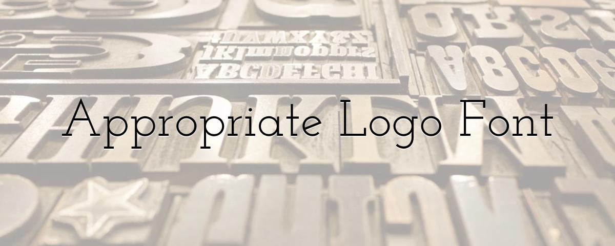 Appropriate Logo Font
