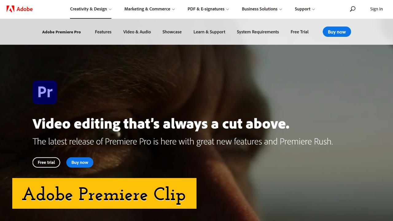 Adobe Premiere Clip screenshot