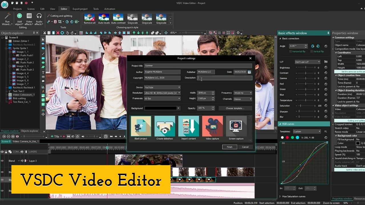 VSDC Video Editor screenshot