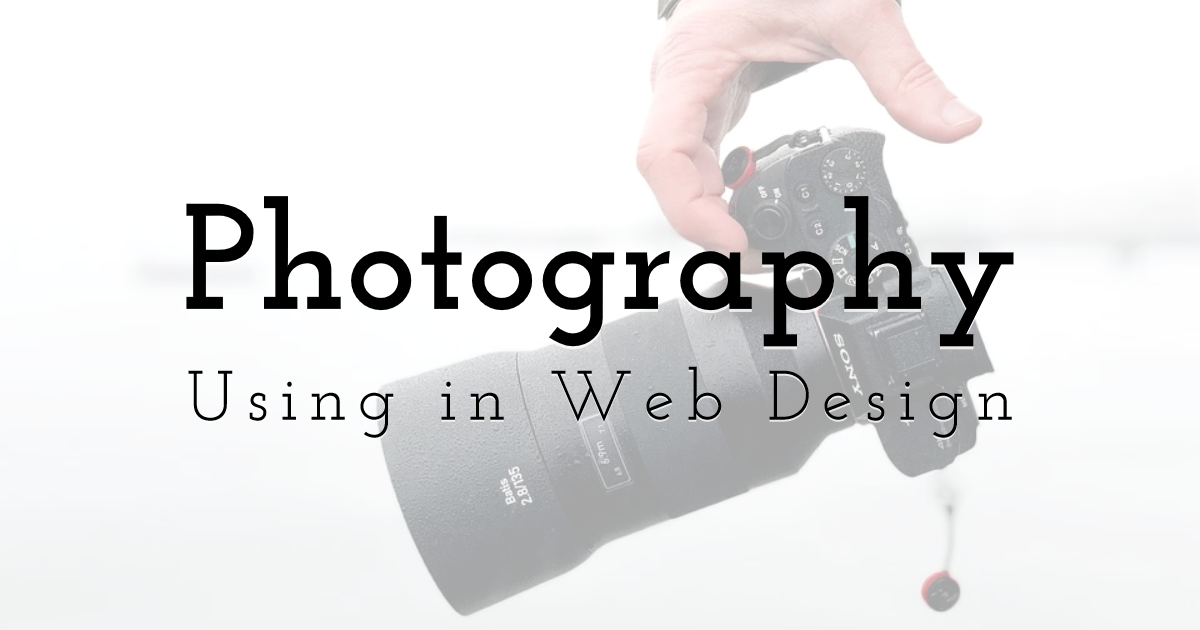 Using Photography in Web Design