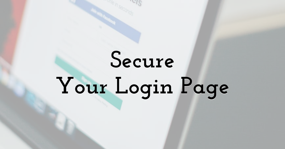 Secure Your Login Page