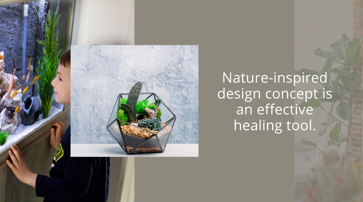 Nature-Inspired Design Concept is an Effective Healing Tool
