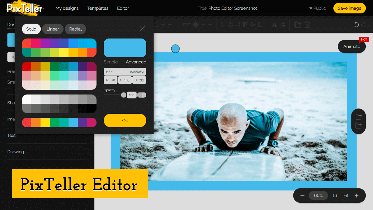 PixTeller Editor Screenshot