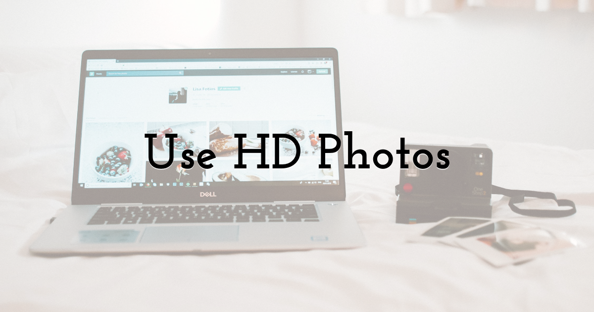 Use HD Photos