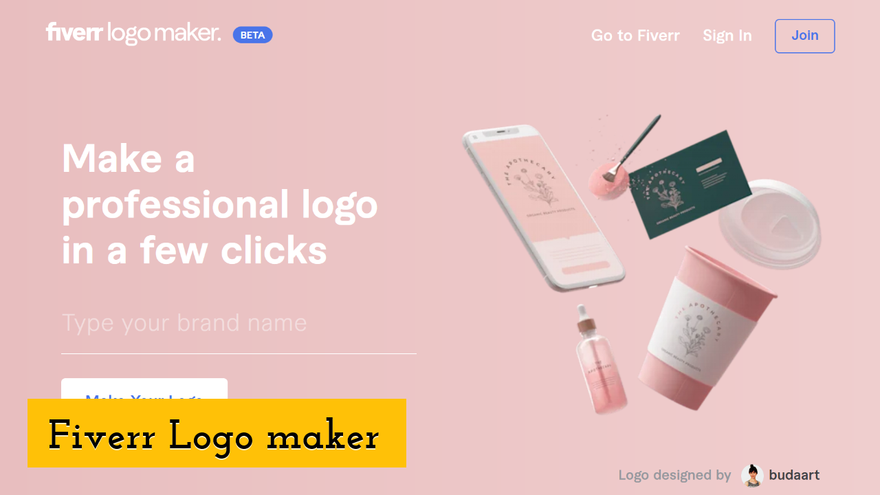 Fiverr Logo maker Screenshot