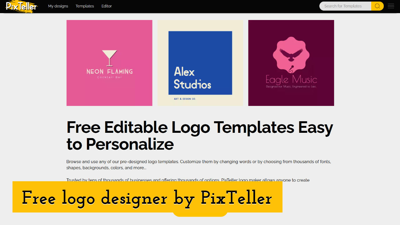 Free logo designer by PixTeller Screenshot