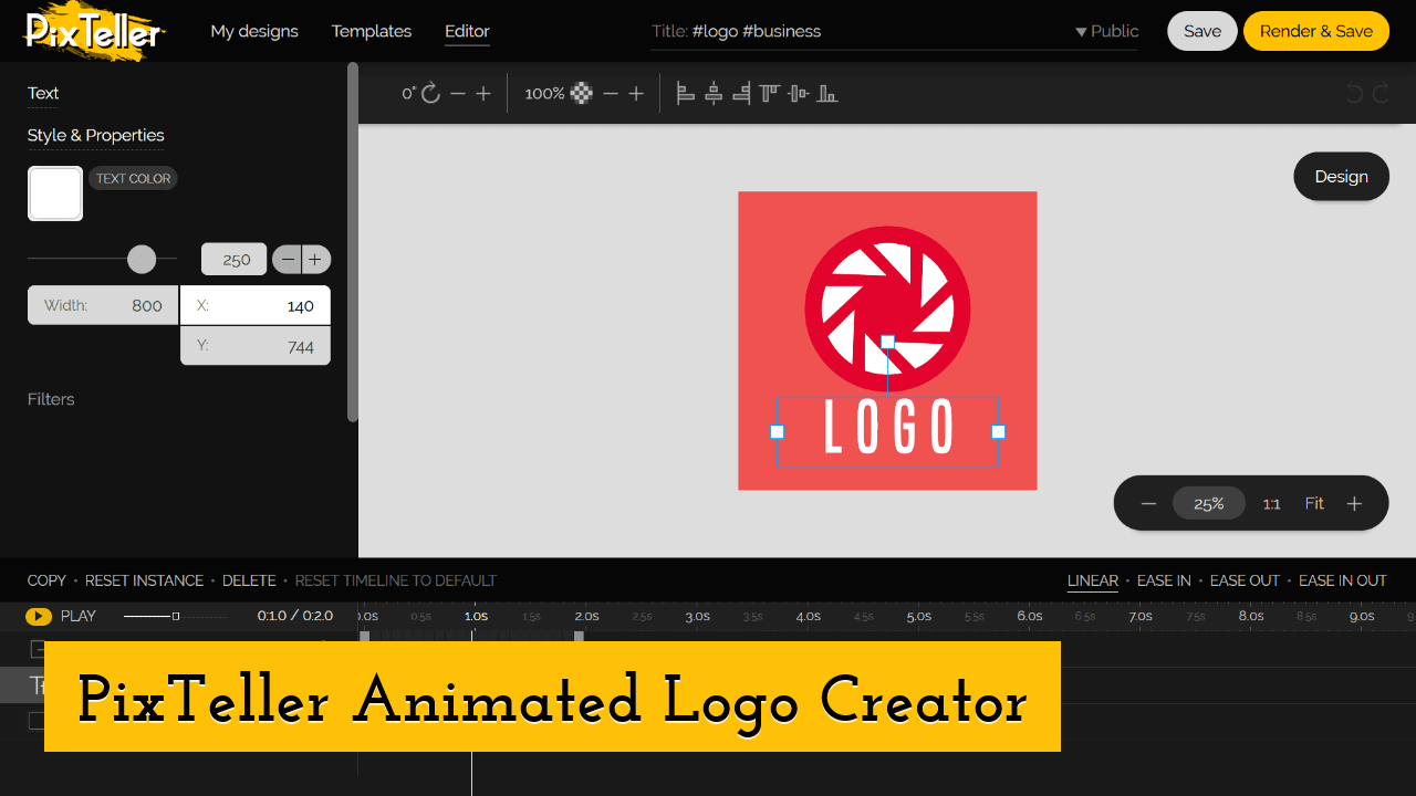 PixTeller Animated Logo Creator Screenshot
