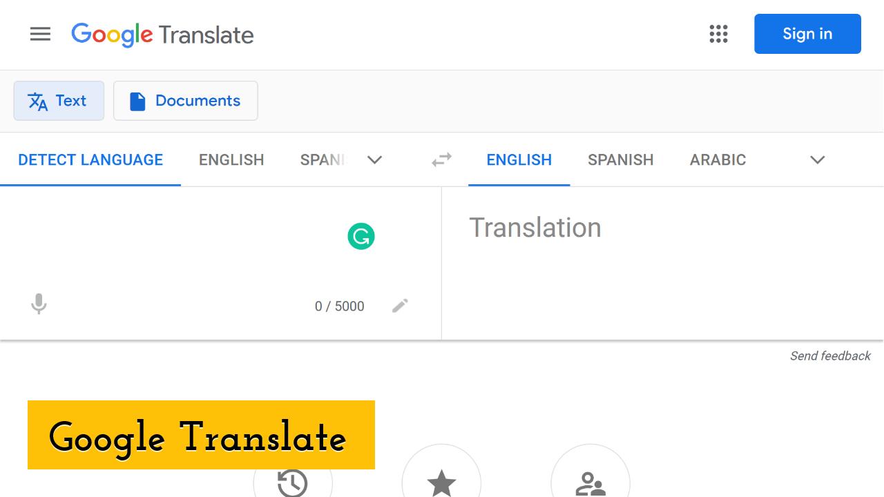 Google Translate Screenshot