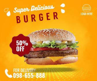 Fast Food Burger Delivery Design  Template
