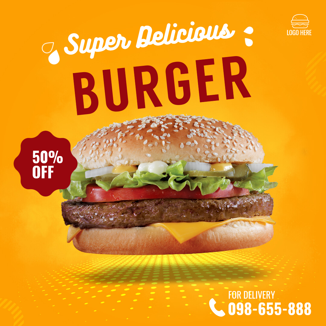 Fast Food Burger Delivery Design  Template