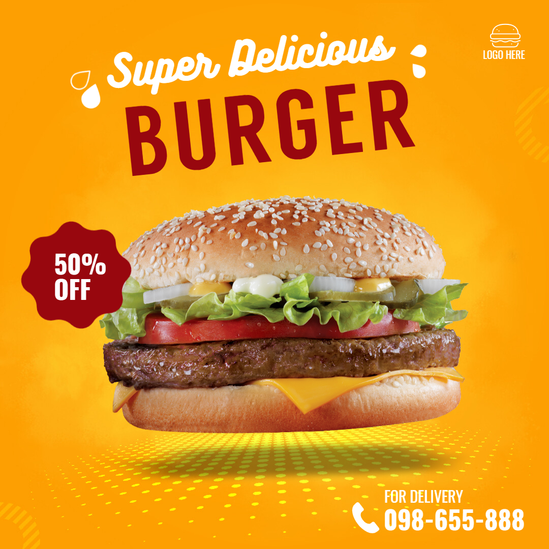 Fast Food Burger Delivery Animation  Template
