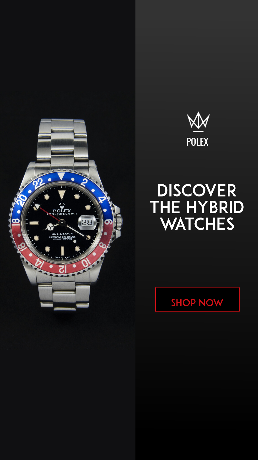 Hybrid Watches Ad 1080x1080 Design  Template