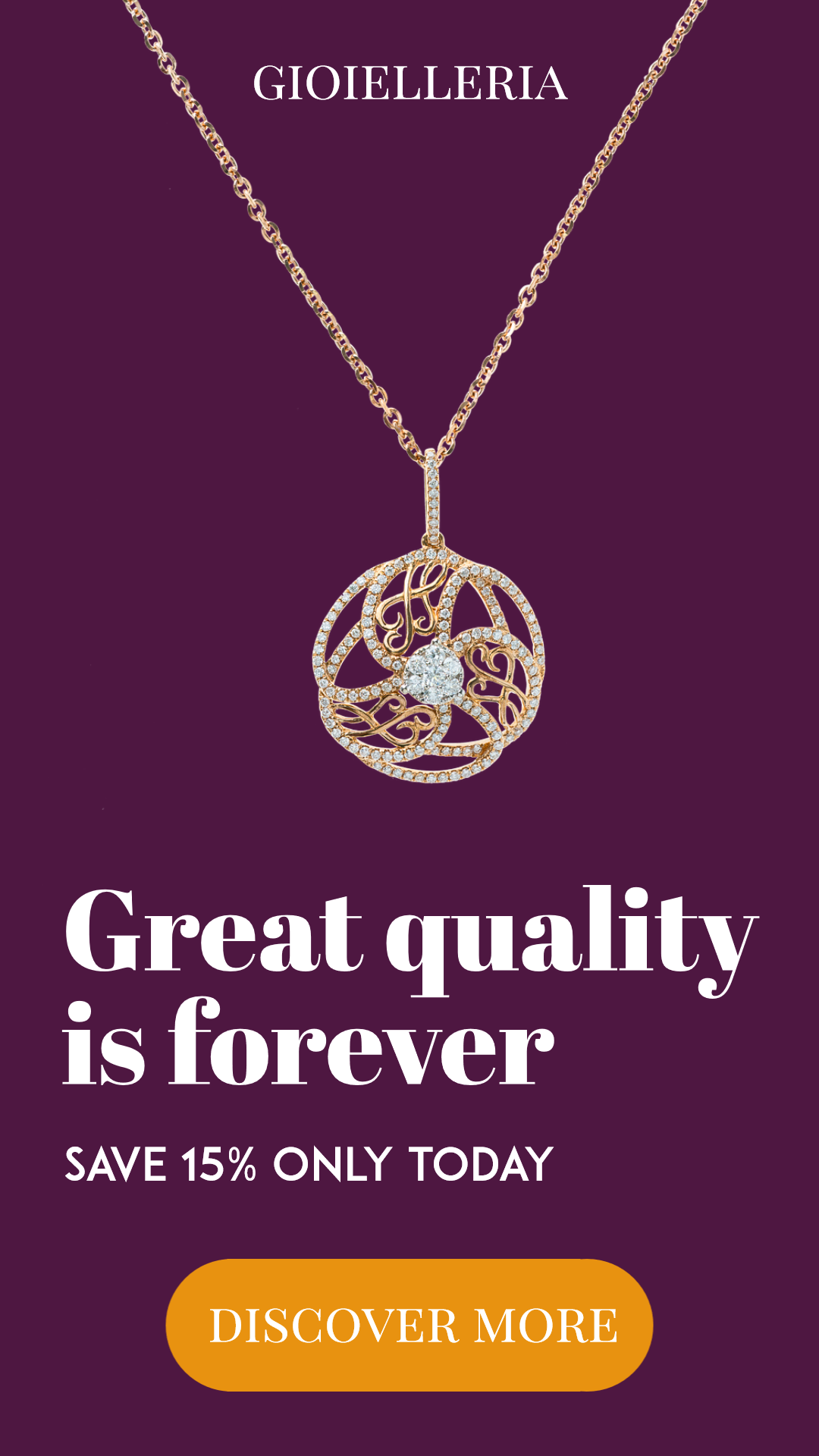 Jewelry Necklace Sales Banner Design  Template