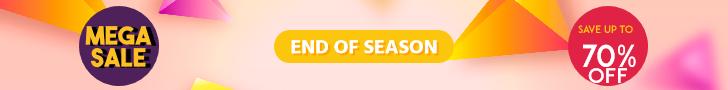 Mega Sale End of Season Banner Design  Template