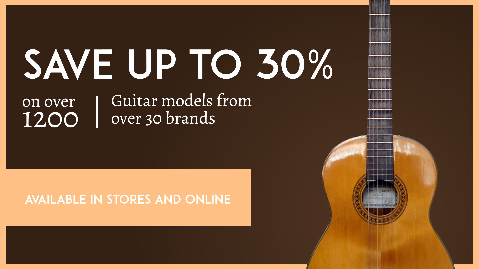Musical Instruments Sale Design  Template
