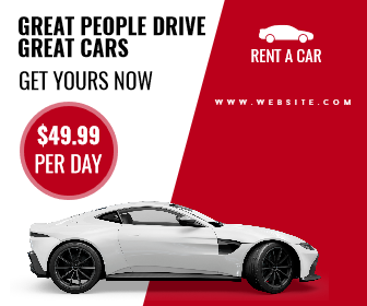 Rent A Car Sale Banner Design  Template