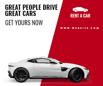 Rent A Car Sale Banner Animation  Template